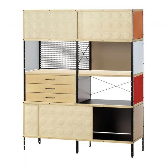 großes Designer Regal aus Holz bunt